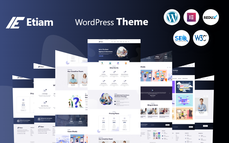Etiam - Vállalati WordPress téma