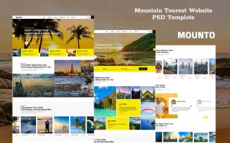 Mounto - Mountain Tourist Website PSD Template