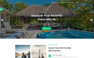 Safar - Tour and Travel Agency Landing Page Template