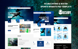 Scuby - Scuba Diving & Water Sports Website PSD Template