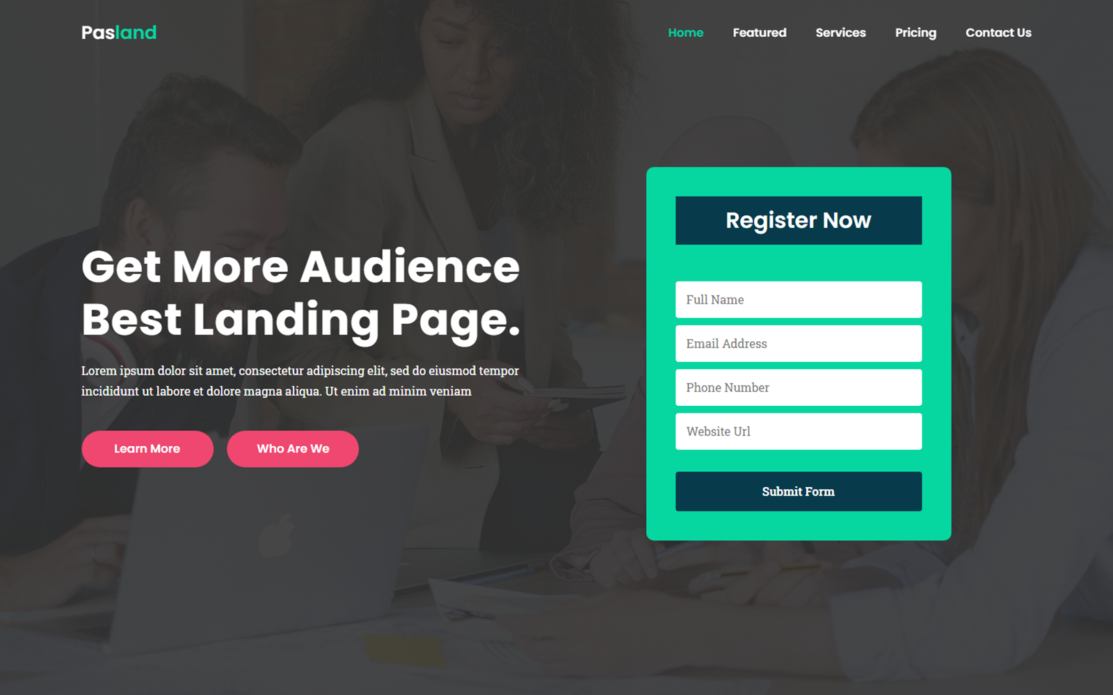 Pasland - Creative Landing Page Template