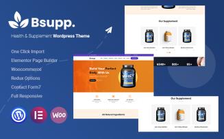 Bsupp - Health & Supplement WordPress Theme