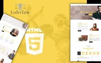 Lobylaw Law and Attorney HTML5 Website Template