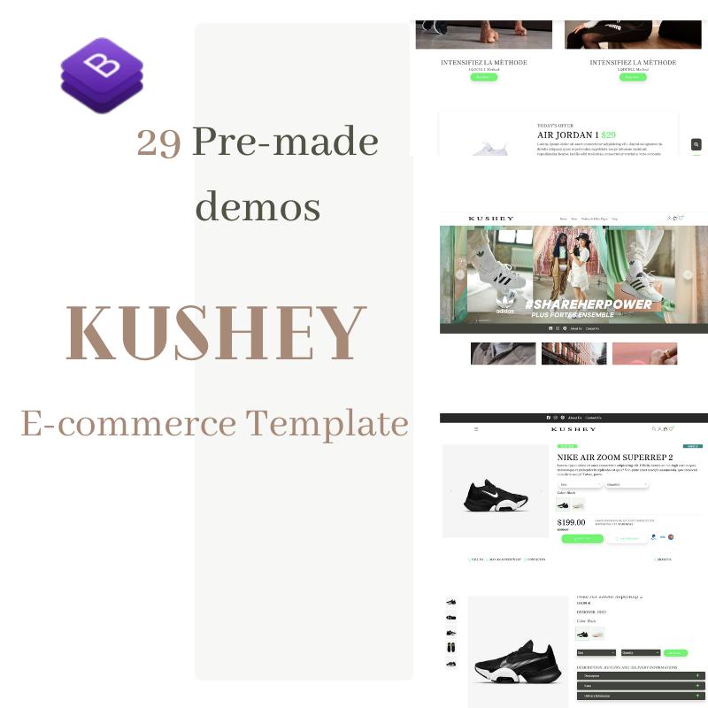 Kushey - Bootstrap 4 Fashion Store Theme