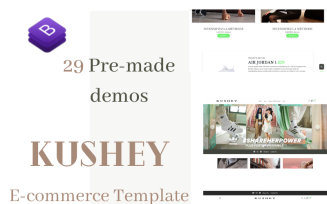 Kushey - Bootstrap 4 Fashion Store Theme