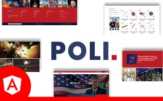 Poli Multipurpose Political Angular Website Template