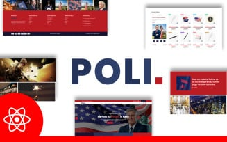 Poli Political Fundraising & Donations React JS Website Template