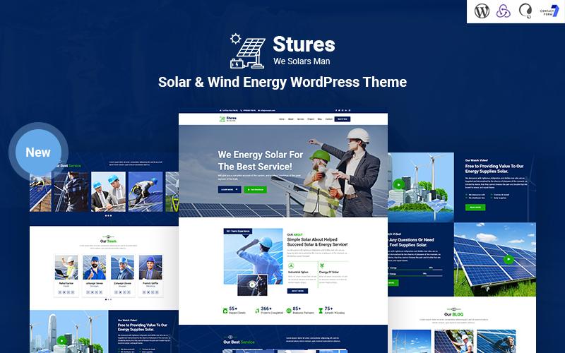 Stures - Responsief WordPress-thema op zonne- en windenergie