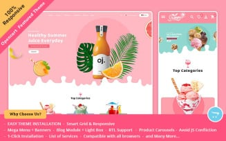 Summer Juices & Shakes - OpenCart Responsive Theme