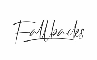 Fallbacks Signature Handwriting Font