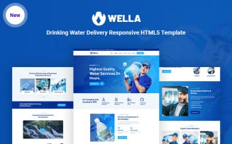 Wella - Drinking Water Delivery HTML5 Website Template