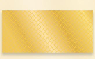 Ornament Pattern Golden Background