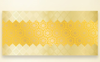 Ornament Pattern Golden Silver Background
