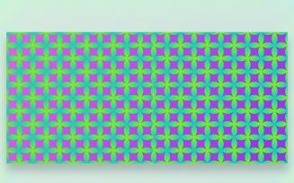 Ornament Pattern Green & Purple Background