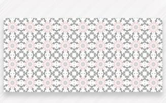 Ornament Pattern Grey & Blush Background