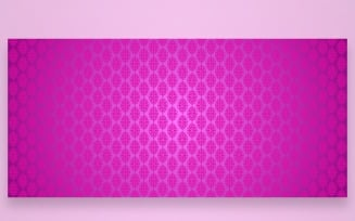 Ornament Pattern Hot Pink Background