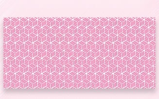 Ornament Pattern Pink Background