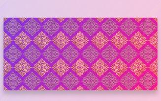 Ornament Pattern Purple & Golden Background