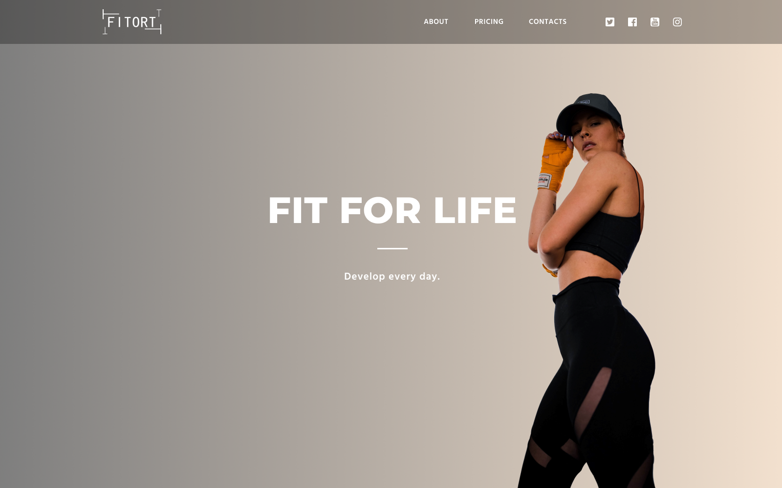 Fitort - Sporting Html Landing Page Template.