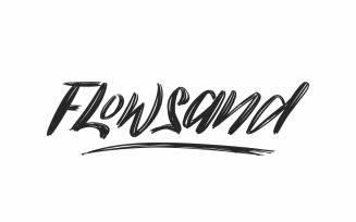Flowsand Brush Calligraphy Font