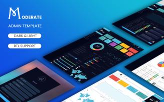 Moderate - Bootstrap Dark & Light Admin Template