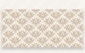 Ornament Pattern Sand & Cocoa Background
