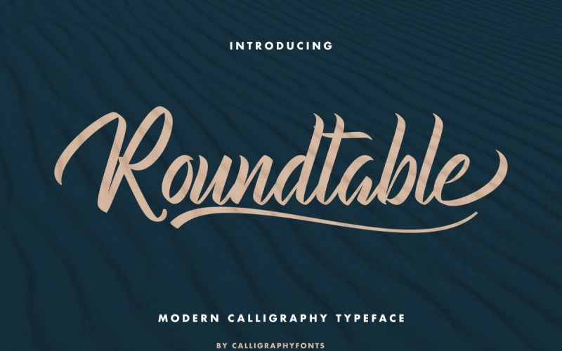 Roundtable Brush Calligraphy Font