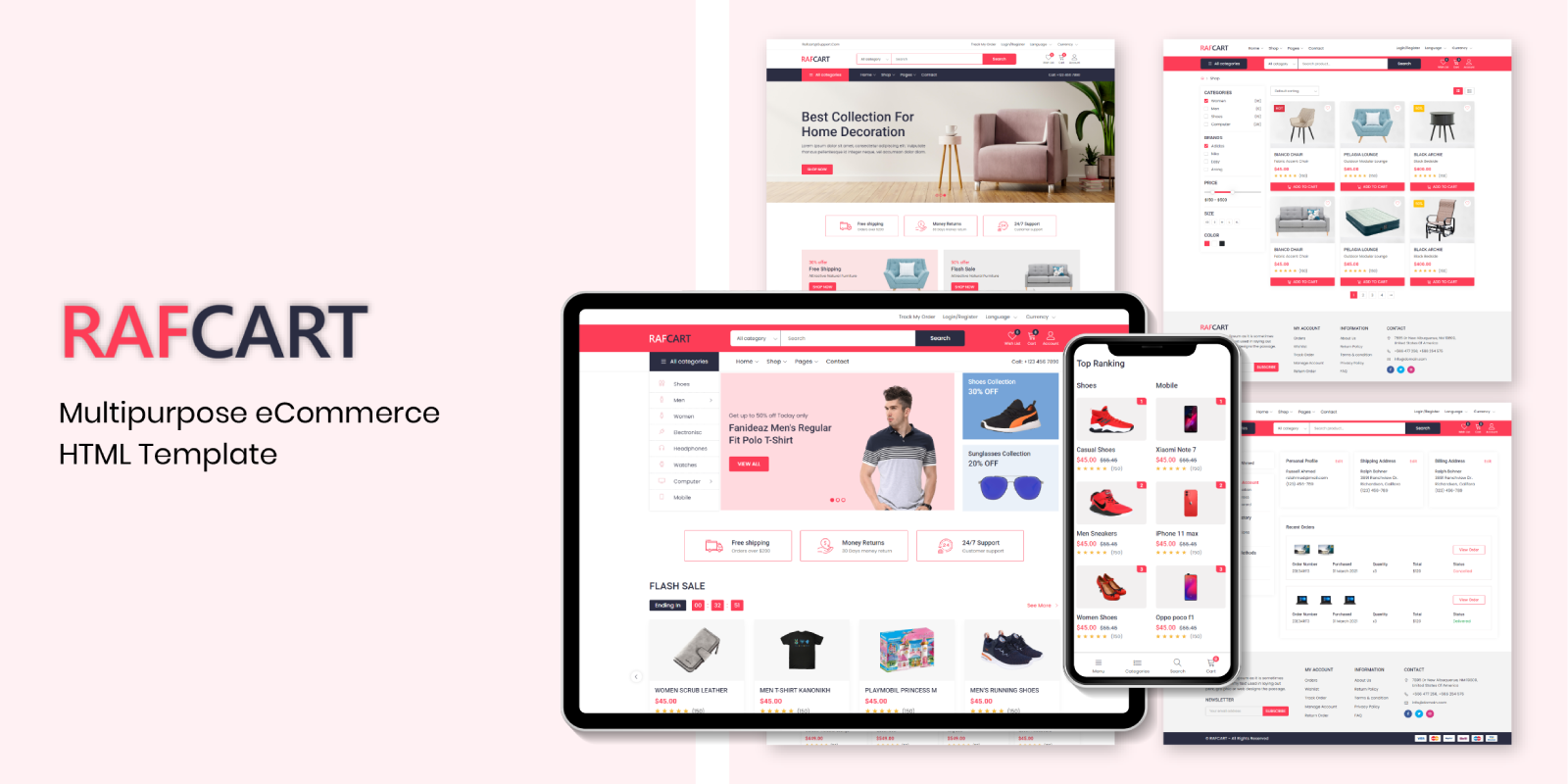 RafCart - Multipurpose eCommerce Bootstrap5 HTML Template