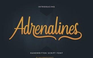 Adrenalines Handwriting Calligraphy Font