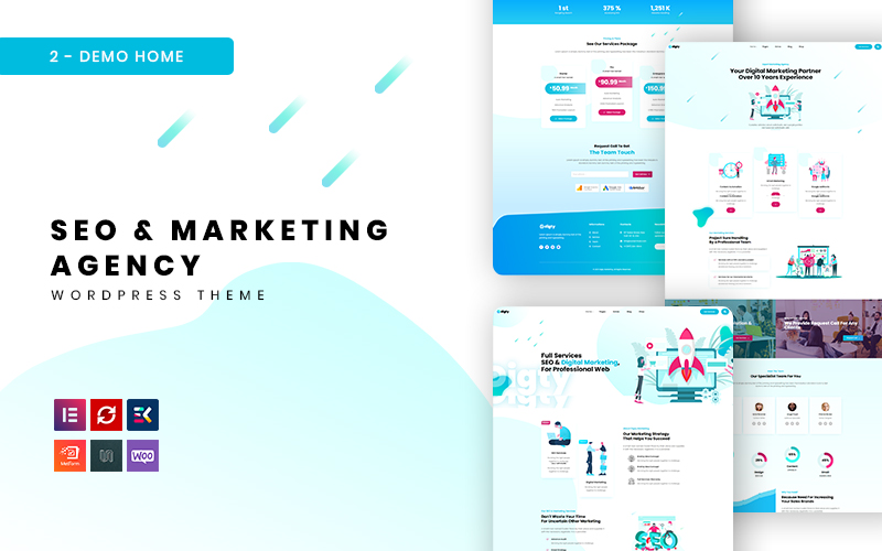 Digty - SEO & marketingbureau WordPress-thema