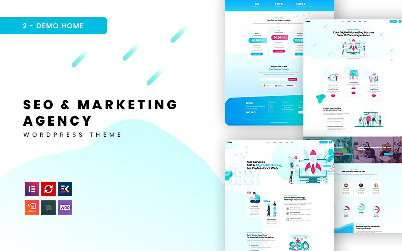 Digty - SEO és marketing ügynökség WordPress téma