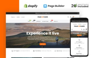 Palm Voyages Travel Store Shopify Theme