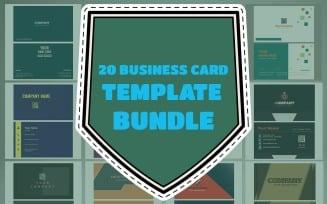 Business Card 20 Template Bundle