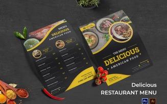 Delicious Food Restaurant Menu