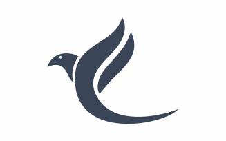 Abstract F Bird Logo Template