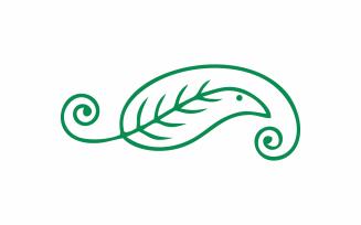 Abstract Green Bird Logo Template