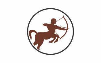 Circle Centaur Logo Template