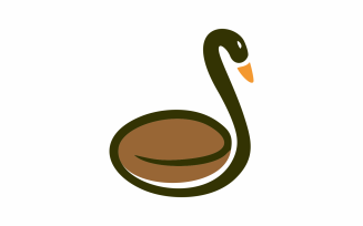 Coffee Goose Abstractk Logo Template