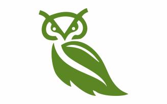 Green Owl Abstract Logo Template