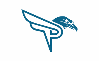 Letter P Eagle Logo Template