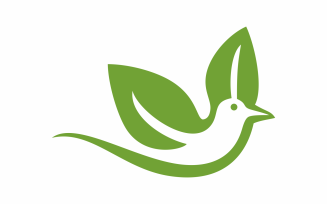 Nature Hummingbird Logo Template