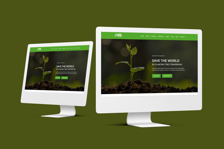 Abusayed - Environmental Responsive Landing Page Template