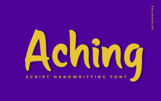 Aching - Beautiful Handwriting Font