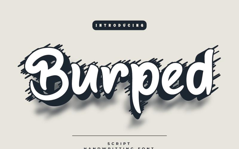 Burped - Beautiful Handwriting Font