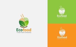 Free Eco Food Logo Design Template Free