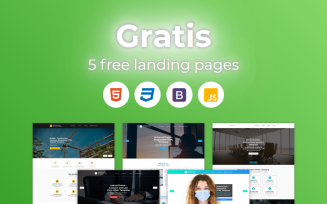 Free Gratis - HTML Bootstrap Landing Page Templates