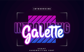 Galette - Beautiful Handwriting Font