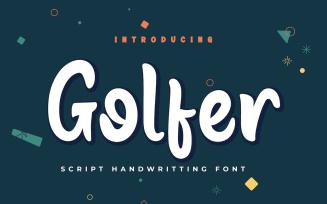 Golfer - Beautiful Handwriting Font