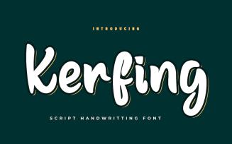 Kerfing - Beautiful Handwriting Font