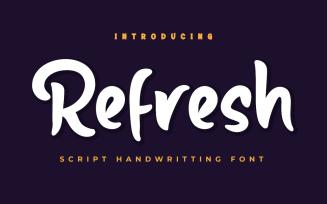 Refresh - Beautiful Handwriting Font